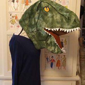 Dinosaur plush mask